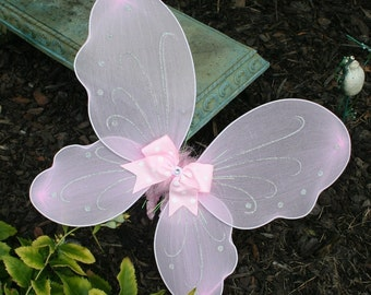 Light Pink  Butterfly or Fairy wings perfect addition to your Fluffy Butt Tutu