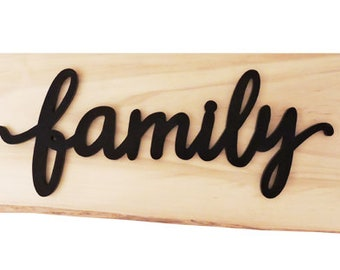 Family Wall Hanging Sign - In Stock Ready To Ship.