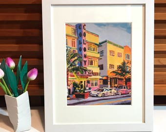 Miami Art The Colony Fine Art Print South Beach, Florida Deco  Gwen Meyerson