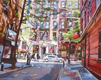Greenwich Village Minetta Lane, MacDougal Street, NYU, New York Art  Print, by Gwen Meyerson