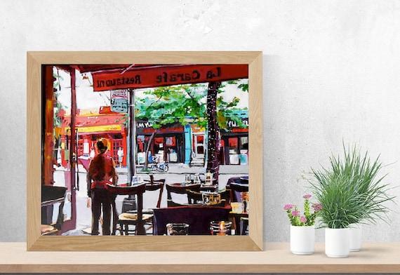 New York Painting Nyc Wall Art Hells Kitchen Painting Cafe Art Urban Fine Art Gwen Meyerson