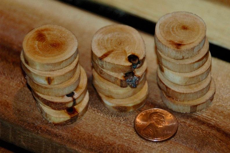 Paper Birch wood buttons 14 pc set
