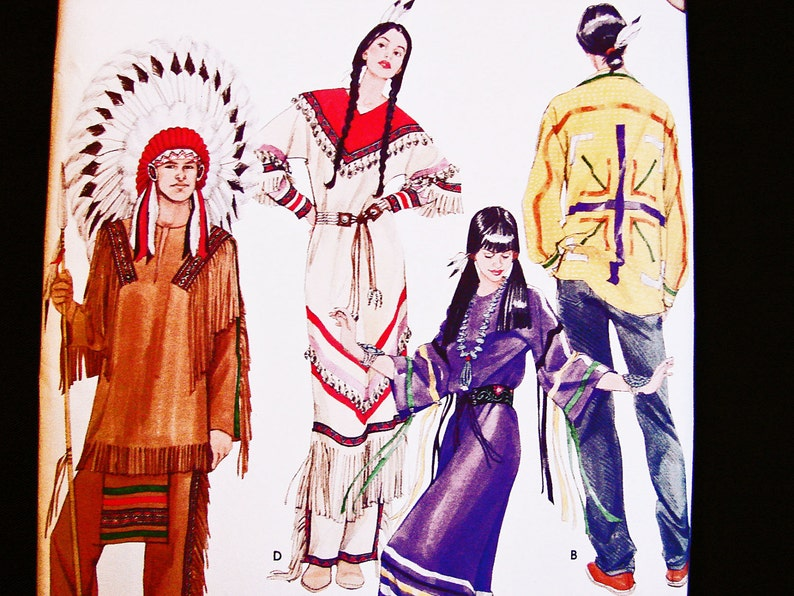 Native American Indian Costume Pattern Uncut Mens Womens Adult Etsy