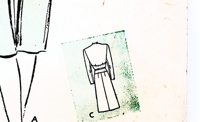 Butterick 1940/'s Pattern 32 Bust Women/'s Dress with Paneled Midriff Misses Size 14
