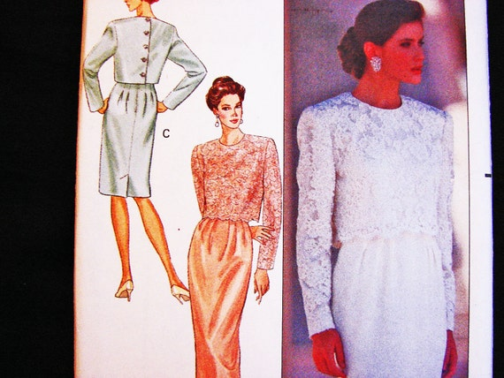 Dress and Jacket Pattern Mother of Bride Groom Dress Sewing Pattern ...