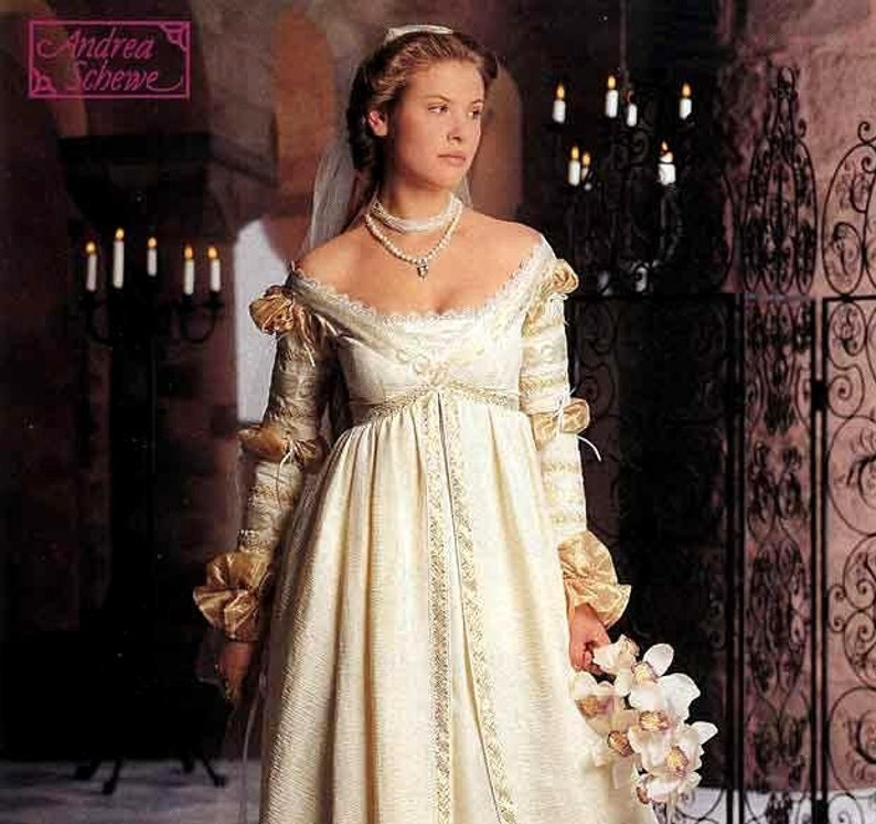 Renaissance Wedding Dress.Simplicity The Ever After Dress Pattern Renaissance Wedding Gown Costume Pattern Misses Size 10 12 14 Uncut