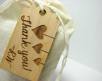 Alder Wood Hang Tags Hang Tags for Business Thank You Tags Drink Label Tags