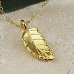 Gold Leaf Necklace Simple Celebrity Single Gold Charm