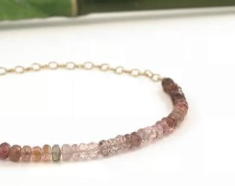 Tundra Sapphire Bracelet Gold Rolo Chain Layering Skinny Bracelet