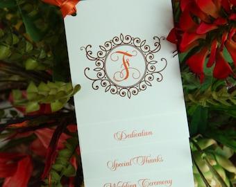100 Custom Tiered Wedding Programs - Fully Assembled