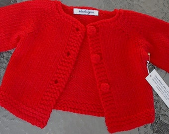 b3d19290f Red baby sweater