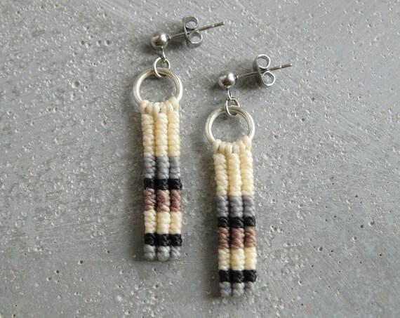Ypê . Modern Macrame Earrings . © Design by .. raïz ..