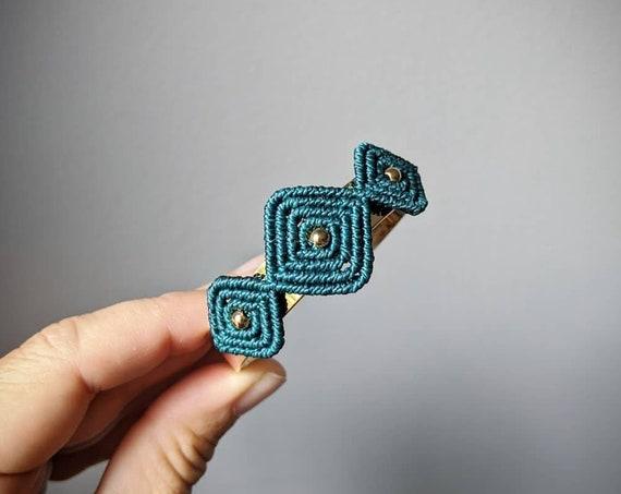 K e r a l a . Cuff Bracelet w/ Textile Appliqué . Open Bangle . Modern Micro Macramé . Fiber Jewelry . © Design by .. raïz ..