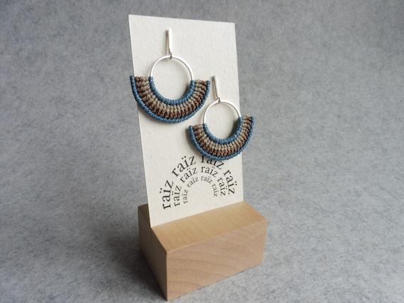 K O A . Modern Macrame Hoop Earrings . © Design by .. raïz ..