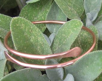 Copper Bangles Bracelet. Adjustable Pliable Copper Bangle.Antibacterial Copper Bracelet Textured/ Wavy Paddle Bangle.ruddlecottage©. xoxo