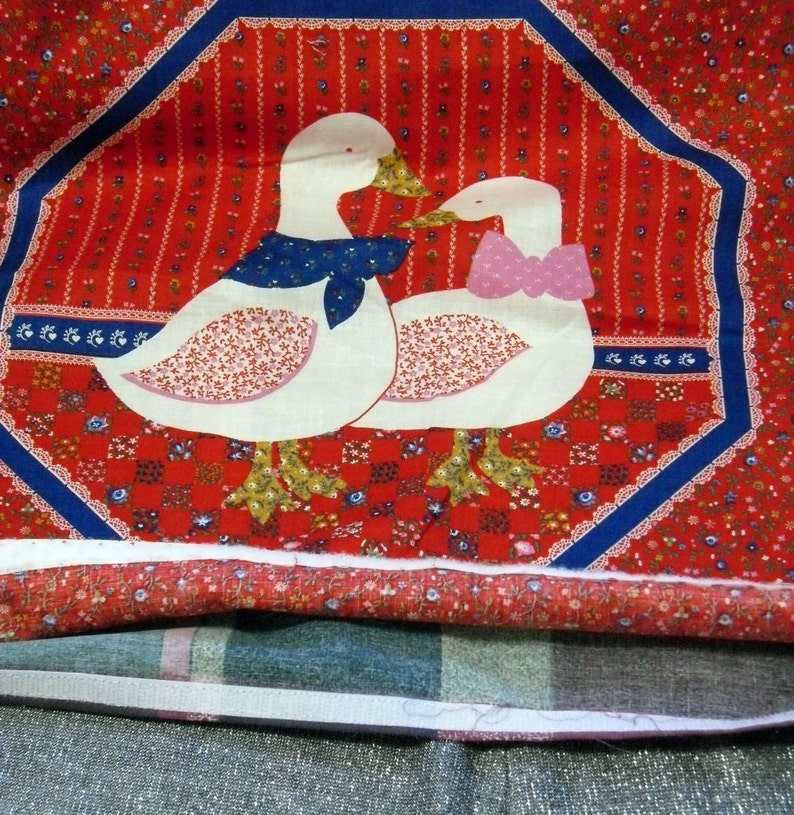 Style M Loving Duck Couple on Red 15 Inch Decorative Throw Pillow Cover