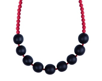 Black and Red bold necklace