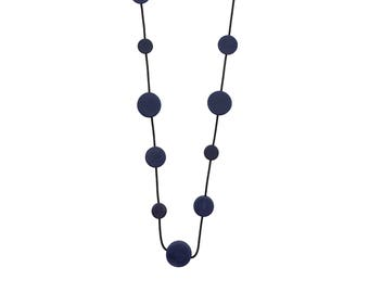 dark blue  necklace, handmade resin  jewelry, urban fashion