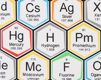 Periodic table dress etsy 221004 periodic table fabric by robert kaufman urtaz Images