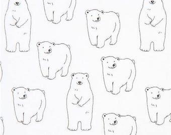 5e18bb19d3 214899 Tela de sarga blanca con lindo animal oso polar de Japón