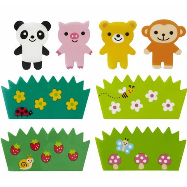 183676 monkey panda Baran divider sheets for Bento Box Lunch Box
