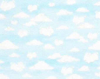 217652 light blue fabric with cloud sky by Timeless Treasures