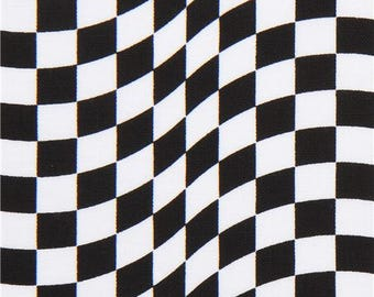 214117 black white racing checkered flag fabric by Timeless Treasures
