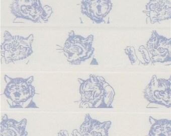 209004 white with blue cat Washi Masking Tape deco tape Shinzi Katoh Japan