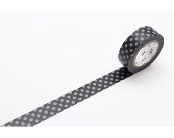 208844 black with grey dot mt Washi Masking Tape deco tape