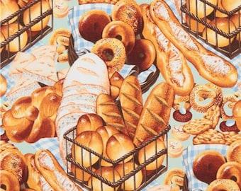217147 mint green Alexander Henry fabric bread baguette food Boulangerie