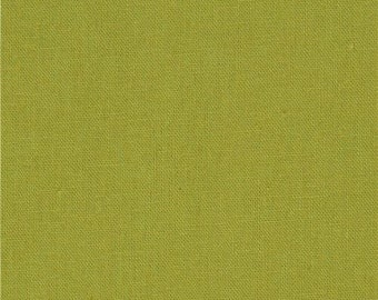 213064 olive green solid Canvas fabric Kokka Japan