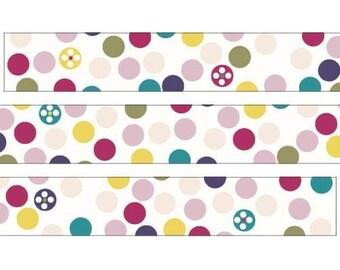 210691 white with cute colorful dot Washi Masking Tape deco tape Shinzi Katoh