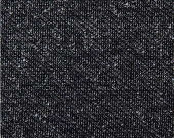 218114 dark grey single color knit fabric from Japan