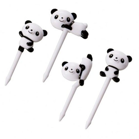 183686 panda bear food picks for Bento Box Lunch Box