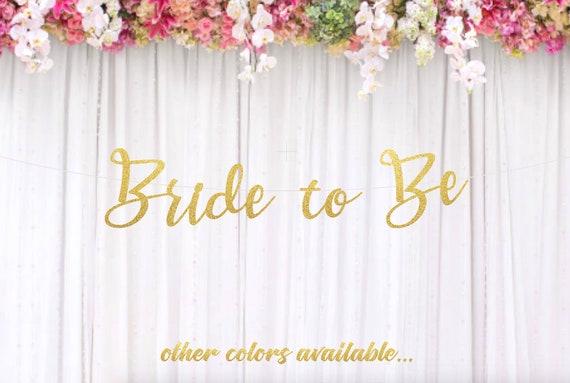 bride to be banner wedding banner bridal shower decorations