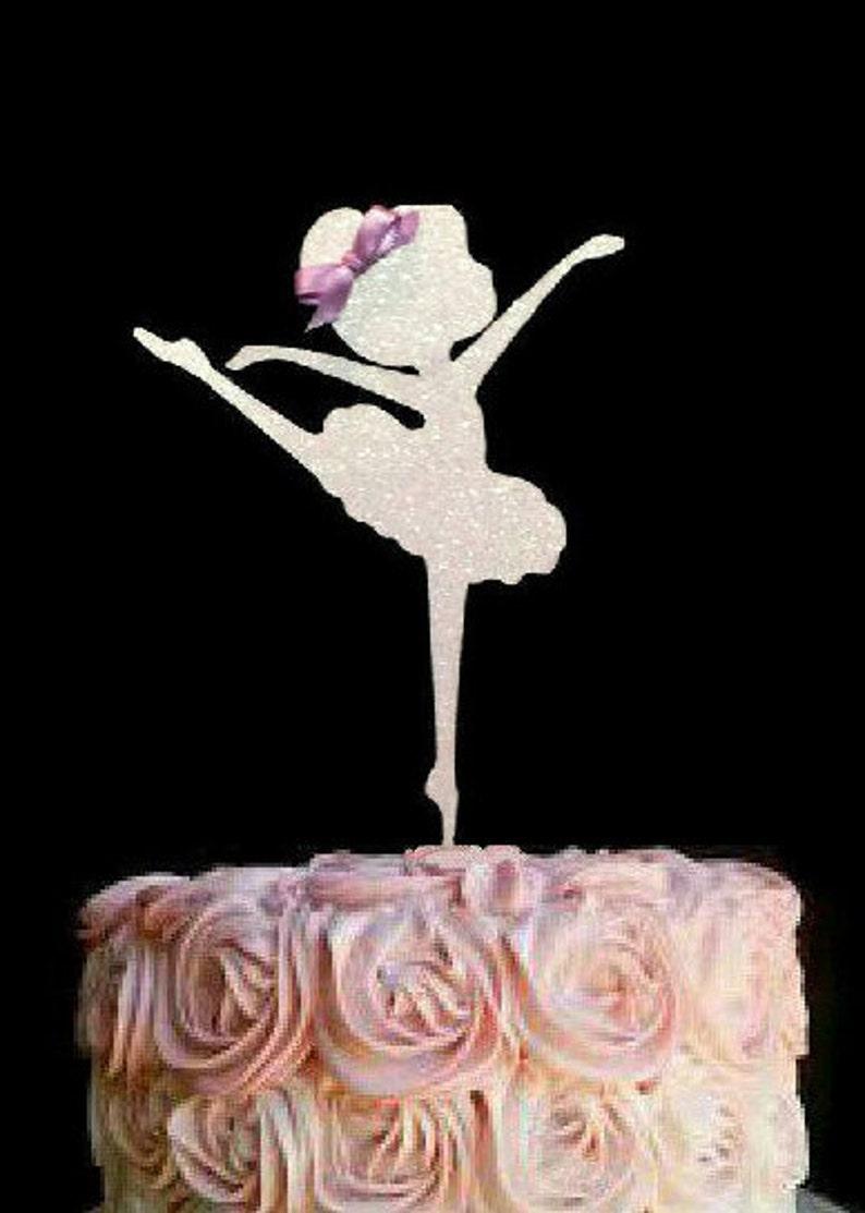 ballerina cake topper cake decoration ballet cake topper etsyimage 0