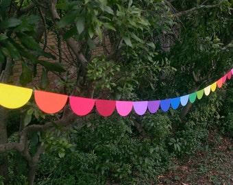 Rainbow Garland, Rainbow Brite, Birthday Garland, Baby Shower, Wedding Garland