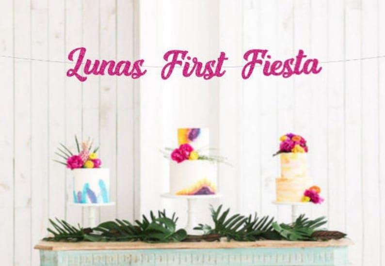 Custom Name Birthday Banner Fiesta Birthday Decor Free Shipping Cake Smash Banner Baby/'s First Fiesta Banner Baby/'s 1st Birthday
