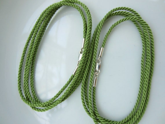 5mm silk thread knot cord pendant necklace adjustable jewelry marking supply