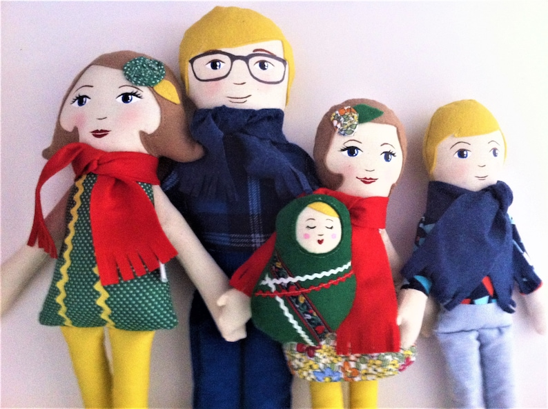 Custom Cloth Doll Family set of dolls family dolls image 0