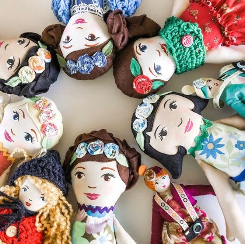 Personalized Rag Doll Handpainted Heirloom Rag Doll image 0