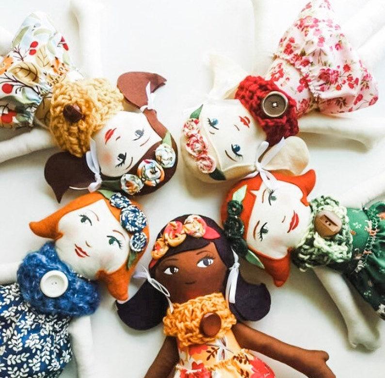 Personalized Rag Doll Handpainted Heirloom Rag Doll image 1
