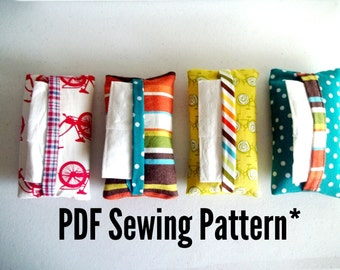 "PDF Sewing Pattern ""Magic Binding"" Tissue Pouch Pattern Tutorial"