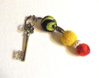 Keychain Decoration..Hand made Keychain Trinket..Purse Zipper Decoration..