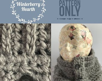 Stone Grey Cowl//pattern only