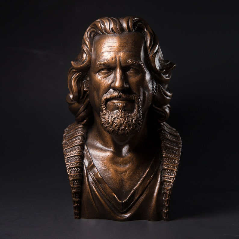 The Dude The Big Lebowski bust  1/2 scale Bronze