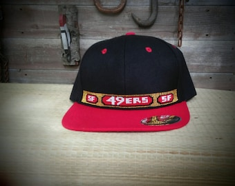0245091cbb2 Native Beaded Baseball cap. Hat.SAN FRANCISCO 49rs.flat Bill. Snap back.  One size fits all. NFL.