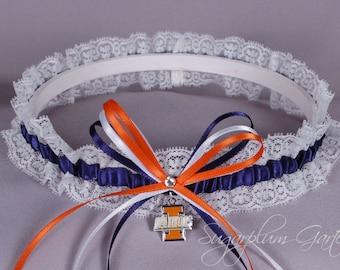 University of Illinois Illini Wedding Toss keepsake prom garter