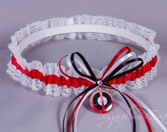 LaceSatin Deadpool  Antiheroic Lace Bridal Wedding Garter or Set