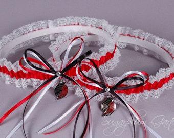 Portland Trail Blazers Lace Wedding Garter Set